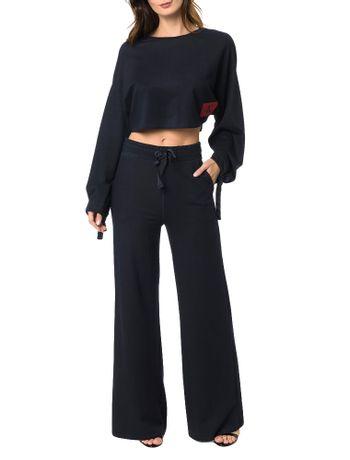 Blusa-Calvin-Klein-Jeans-Com-Etiqueta-Personalizada-Marinho