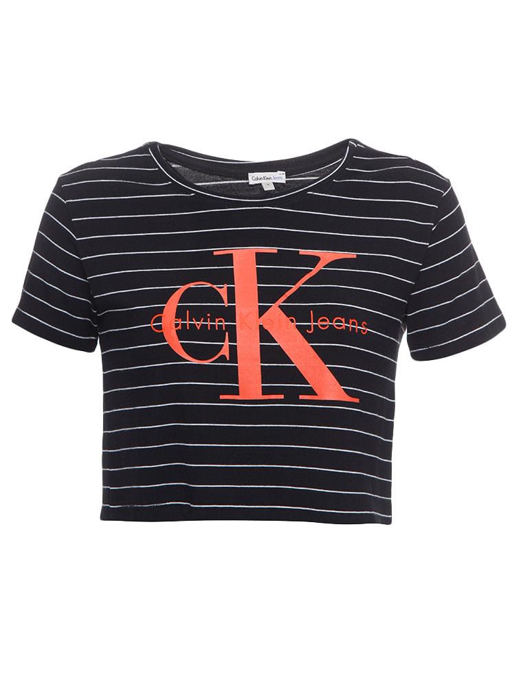 6d959dda1fc51 Blusa-Infantil-Calvin-Klein-Jeans-Listrada-Logo-Calvin-Klein-Jeans-Mescla.  Loading zoom
