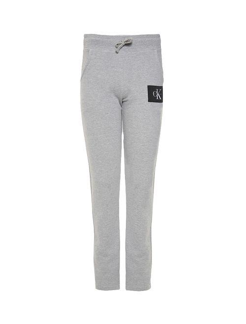 Calça Infantil Calvin Klein Jeans Com Etiqueta Externa Mescla