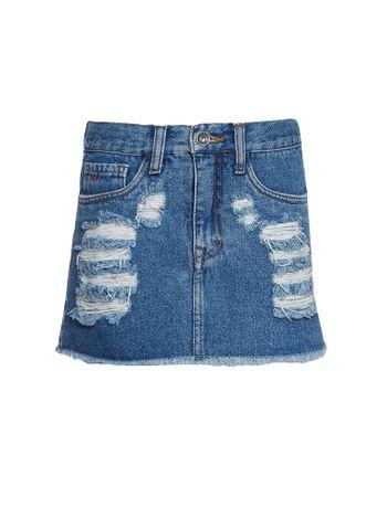Saia-Jeans-Infantil-Calvin-Klein-Jeans-Five-Pockets-Azul-Medio