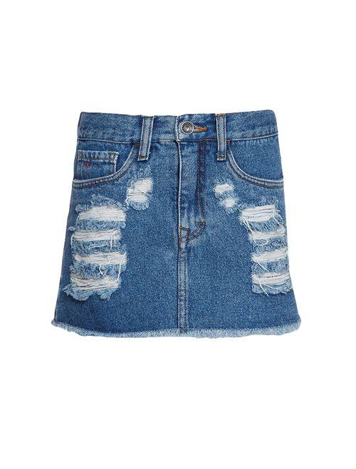 Saia Jeans Infantil Calvin Klein Jeans Five Pockets Azul Médio