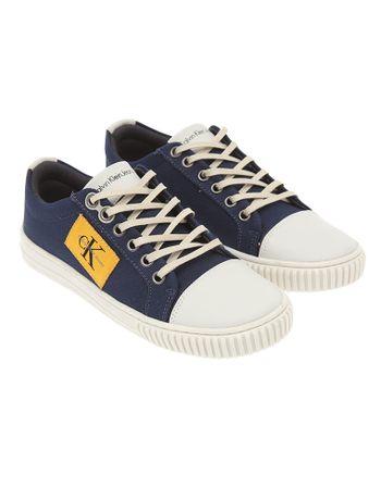 Tenis-Infantil-Calvin-Klein-Jeans-Lona-Logo-Lateral-Marinho