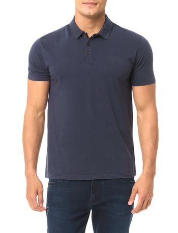 Polo-Calvin-Klein-Jeans-Estampa-Logo-Cliche-Marinho