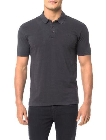 Polo-Calvin-Klein-Jeans-Estampa-Logo-Cliche-Grafite