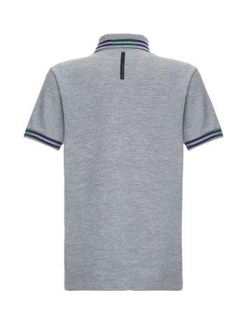 Polo-Infantil-Calvin-Klein-Jeans-Logo-E-Listras-Mescla
