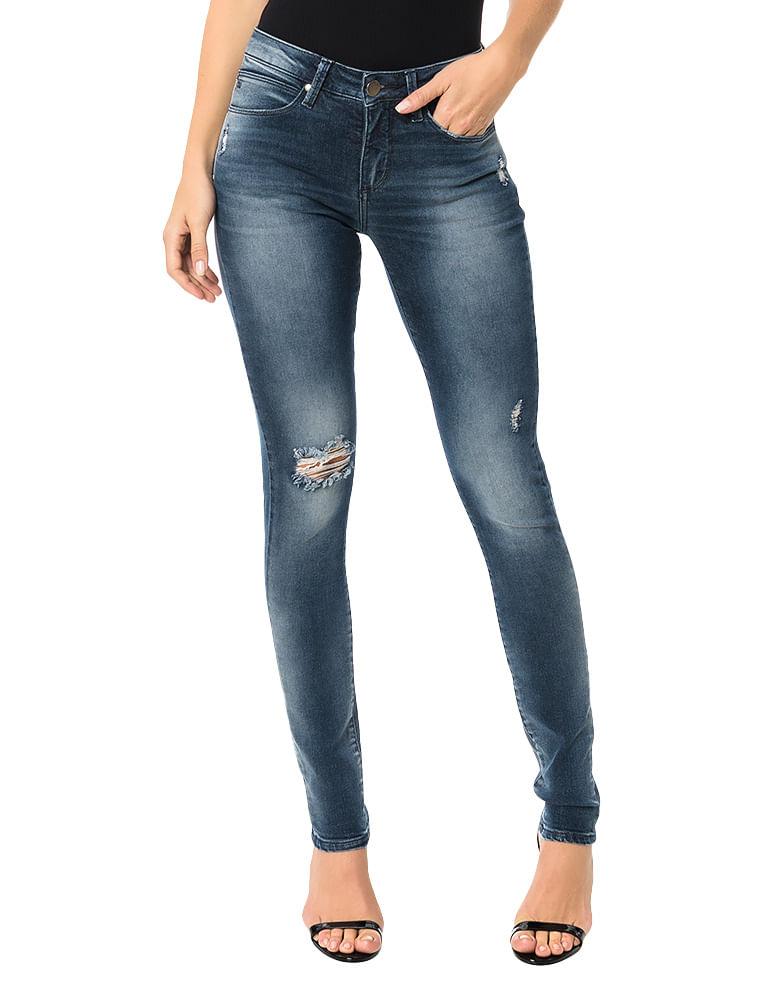 ccd53dcf2 Calça Calvin Klein Jeans 5 Pockets Super Skinny Marinho - Calvin Klein