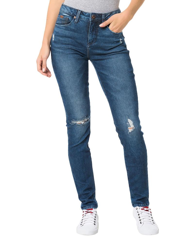 Calça Calvin Klein Jeans Super Skinny High Azul Médio - Calvin Klein 141a4b916d19c