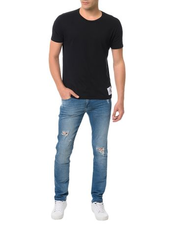Calca-Azul-Medio-Calvin-Klein-Jeans-Skinny-Five-Pockets