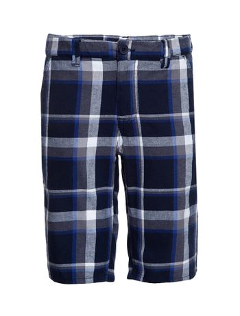 Bermuda-Xadrez-Infantil-Calvin-Klein-Jeans-Marinho