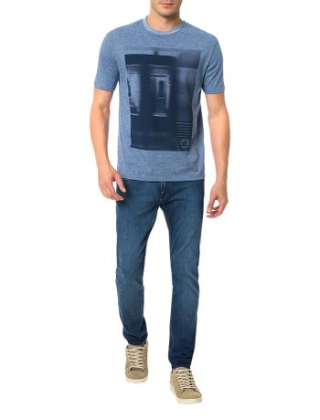 Camiseta-Regular-Calvin-Klein-Underground-Azul-Carbono