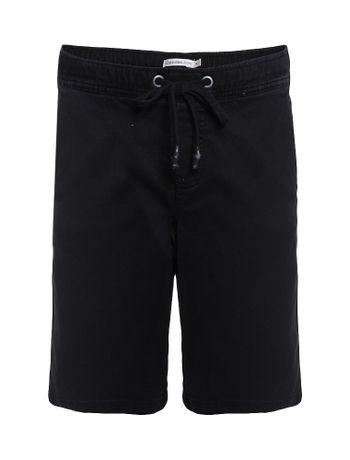 Bermuda-Color-Infantil-Calvin-Klein-Jeans-Com-Elastico-Preto
