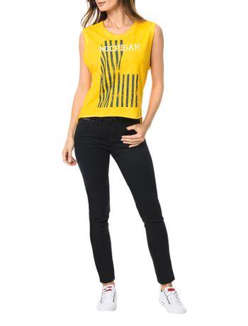 Blusa-Calvin-Klein-Jeans-C-Lavanderia-e-Estampa-Frontal-Amarelo-Ouro