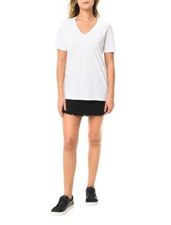 Blusa-Calvin-Klein-Jeans-Logo-Manga-Branco