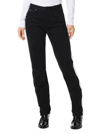 Calca-Color-Calvin-Klein-Jeans-5-Pockets-Straight-High-Preto