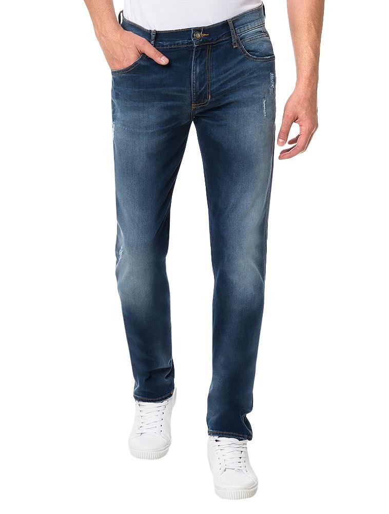 Calça Azul Médio Calvin Klein Jeans Sculpted - Calvin Klein db96a545a1