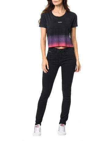 Blusa-Calvin-Klein-Jeans-Com-Cropped-Jateado-Na-Barra-Preto