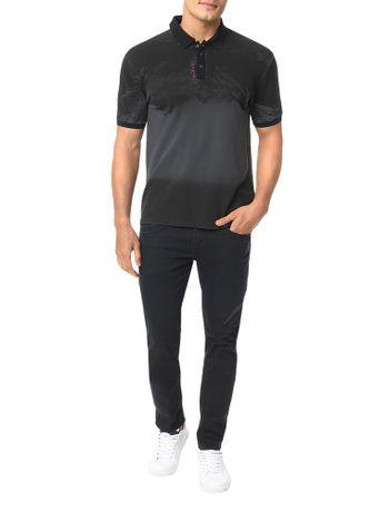 Polo-Calvin-Klein-Jeans-Estampa-Montanhas-Grafite