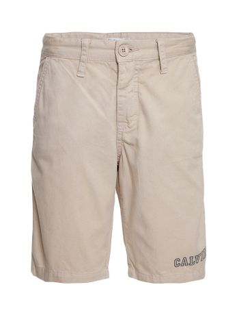 Bermuda-Color-Infantil-Calvin-Klein-Jeans-Estampa-Frente-Caqui-Claro