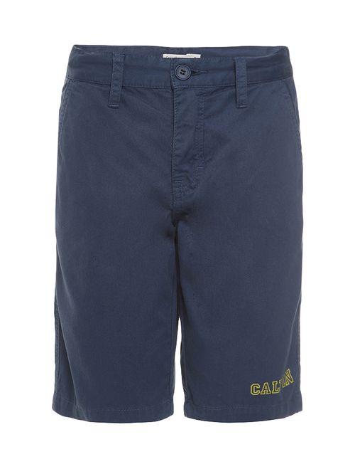 Bermuda Color Infantil Calvin Klein Jeans Estampa Frente Marinho
