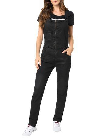 Macacao-Calvin-Klein-Jeans-Five-Pockets-Preto