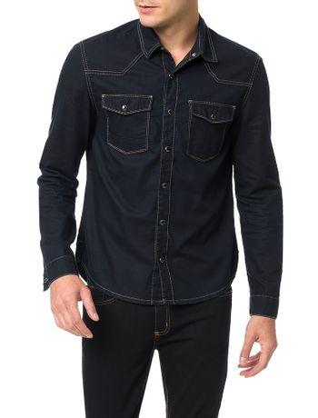 Camisa-Calvin-Klein-Jeans-Azul-Marinho