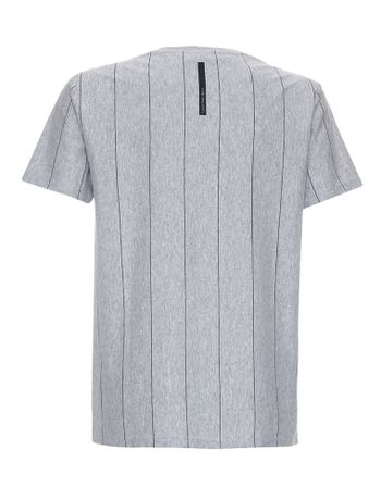 Camiseta-Infantil-Calvin-Klein-Jeans-Listras-E-Logo-Estampa-Frontal-Mescla