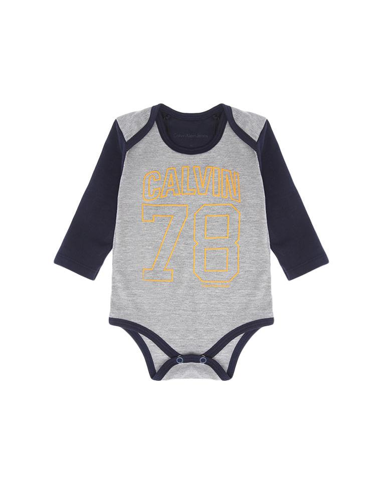 3bbfffaece044 Body Infantil Calvin Klein Jeans Calvin 78 Mescla - Calvin Klein