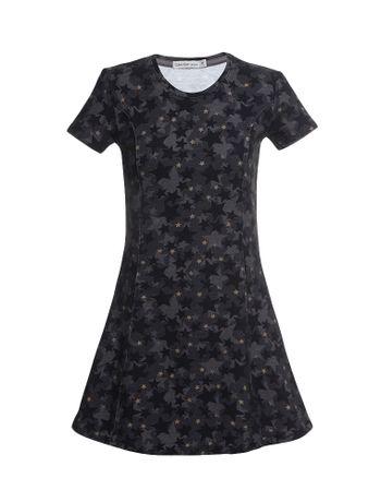 Vestido-Infantil-Calvin-Klein-Jeans-Camuflado-Estrelas-Chumbo