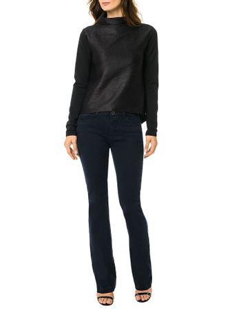 Blusa-Calvin-Klein-Malha-Nervurada-Preto