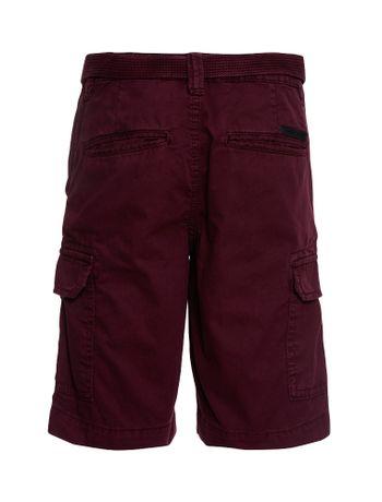 Bermuda-Color-Infantil-Calvin-Klein-Jeans-Bordo