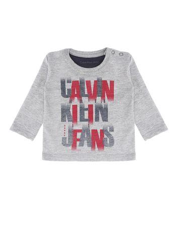 Blusa-Infantil-Calvin-Klein-Jeans-Estampa-Frente-Mescla