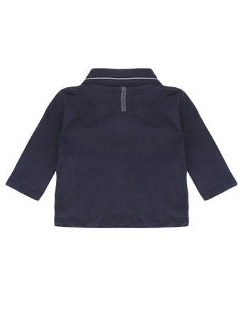 Polo-Infantil-Calvin-Klein-Jeans-Estampa-Bandeira-Marinho