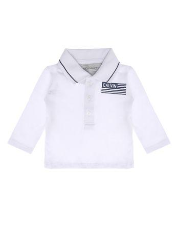 Polo-Infantil-Calvin-Klein-Jeans-Estampa-Bandeira-Branco