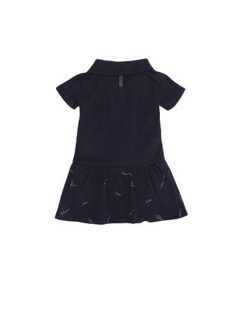 Vestido-Polo-Infantil-Calvin-Klein-Jeans-Com-Mini-Print-Marinho
