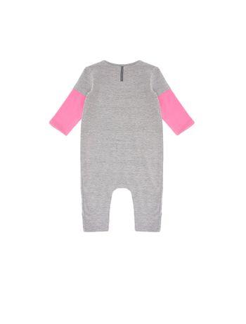 Macacao-Infantil-Calvin-Klein-Jeans-Com-Bolsos-Frontais-Mescla