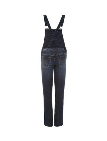 Macacao-Infantil-Calvin-Klein-Jeans-Bolso-Contraste-Azul-Medio
