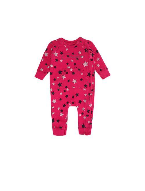 Macacão Infantil Calvin Klein Jeans Estampa Estrelas Rosa Escuro