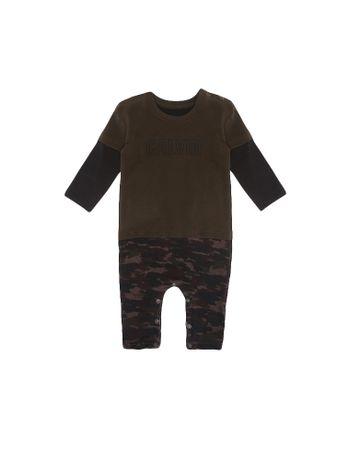 Macacao-Infantil-Calvin-Klein-Jeans-Estampa-Camuflada-Militar