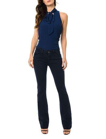 Calca-Jeans-Calvin-Klein-Slim-Flare-Azul-Marinho