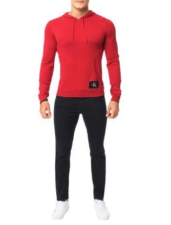 Sueter-Calvin-Klein-Jeans-Capuz-Canguru-Re-Issue-Vermelho