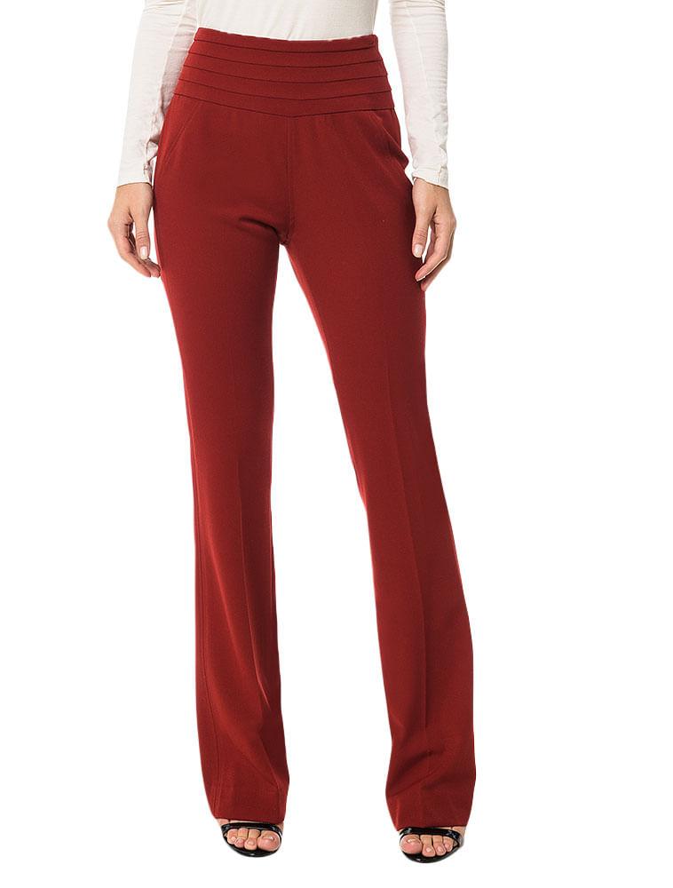 ab747b2b98c Calça Slim Flare Calvin Klein Com Detalhe No Cós Vermelho