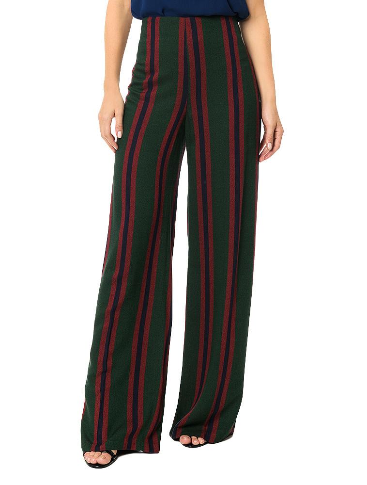 fcdf32a88 Calça Calvin Klein Listrada Pantalona Musgo - Calvin Klein