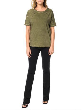 Blusa-Calvin-Klein-Jeans-Com-Lavanderia-Aplique-Frontal-Militar