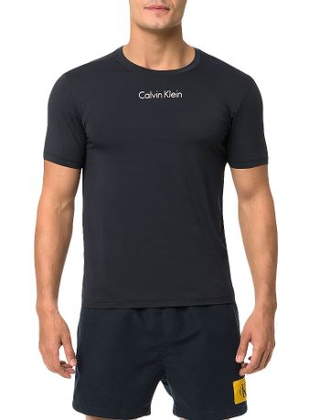 Camiseta-Athletic-Calvin-Klein-Swimwear-Logo-Institucional-Preto