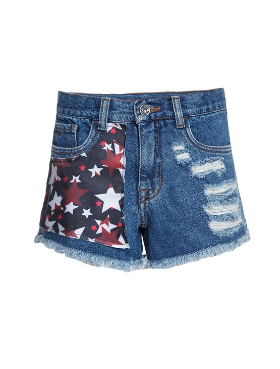 Shorts-Jeans-Infantil-Calvin-Klein-Jeans-5-Pockets-Azul-Medio
