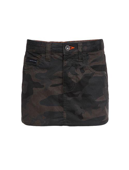 Saia Color Infantil Calvin Klein Jeans Camuflado Militar
