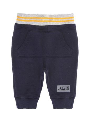 Calca-Moletom-Infantil-Calvin-Klein-Jeans-Bolso-Marinho