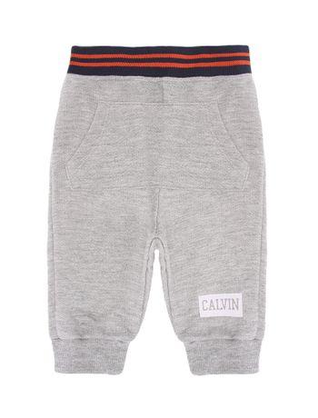 Calca-Moletom-Infantil-Calvin-Klein-Jeans-Bolso-Mescla