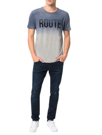 Camiseta Calvin Klein Jeans Estampa Route Mescla - Calvin Klein c3846df81e4