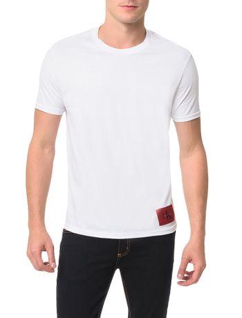 Camiseta-Calvin-Klein-Jeans-Etiqueta-Ck-Branco